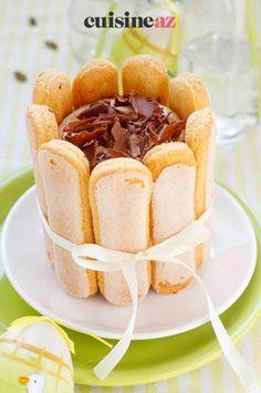 La charlotte au chocolat-café est un dessert à préparer la veille. #recette#cuisine#charlotte #gateau #chocolat #cafe#patisserie Hot Dog Buns, Hot Dogs, Snack Recipes, Snacks, Chips, Pudding, Bread, Desserts, Food