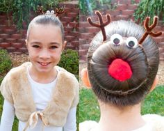 Christmas Kids haircuts Year 2013 For Girls. Now that's just asking other kids to laugh and bully this kid! Lol