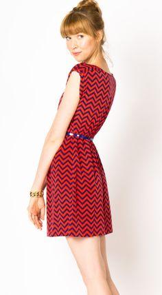 I want this. #chevron #dress #reddress
