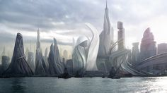 Futuristic Cities--I really like this one.