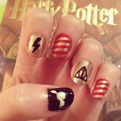 Harry Potter nails :)