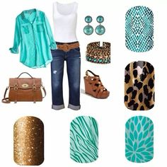 Love teal and leopard!! Lotus and Gold Leopard are two of my favorite wraps!  www.emilyhooten.jamberrynails.net