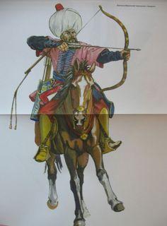 Light cavalry, XVII c. Islam, Turkish Soldiers, Military Costumes, Traditional Archery, Airbrush Art, Historical Art, Ottoman Empire, Modern Warfare, 17th Century
