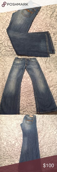 Nudie Jeans 33x32 This is the Regular Alf style by Nudie Jeans Co. They are in wonderful condition. I'm not even sure he wore them. 33x32 Great looking Jeans! Nudie Jeans Jeans Bootcut