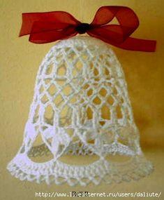 вязаные колокольчики схемы - Crochet Christmas Ornaments, Christmas Crochet Patterns, Holiday Crochet, Christmas Bells, Christmas Crafts, Handmade Christmas, Crochet Snowflake Pattern, Crochet Snowflakes, Crochet Slipper Boots