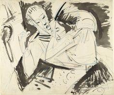 Ernst Ludwig Kirchner. Sailor Saying Goodbye (Matrose sich verabschiedend). (1914)