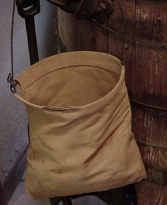 Vintage Weathered Canvas/Feedsack Laundry Clothes Pin Bag #vintage #decor #home $19.99