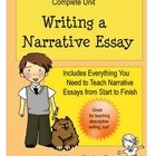 This unit has everything you need to teach a narrative essay from start to finish. It is meant to align with all the objectives of common core stan...