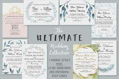 The ULTIMATE Wedding Collection by Knotted Design on @creativemarket. Price $29