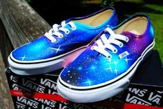 Stunning Galaxy Vans Shoes for Sale - Custom Galaxy Vans Shoes