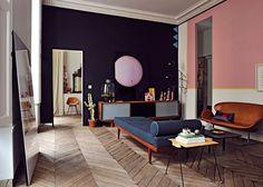 Un appartement parisien au décor années 50