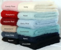 The 'Everyday  Luxury' Mohair throws selection from Mohairs and More http://mohairsandmore.com/100-everyday-luxury-mohair-throw-blankets/