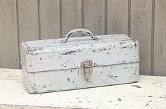 Vintage Liberty Chippy Tool / Tackle Box by theindustrycottage on Etsy
