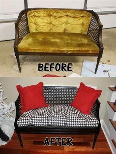 trash to treasure furniture Furniture Reupholstery, Furniture Makeover, Diy Furniture, Painted Chairs, Painted Furniture, Repurposed Furniture, Refurbished Furniture, Trash To Treasure, Repurposed Items