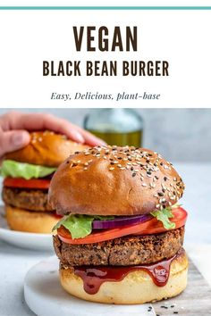 Easy Vegan Black Bean Burgers | Healthy Fitness Meals