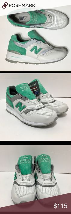 New Balance 997 Made in USA Ronnie Fieg Kith YOU ARE LOOKING ATAORIGINAL PAIR OF THENew Balance 997 Made in USA White & Mint Kith Ronnie Fieg M997CMA   DEADSTOCK  CONDITION: BRAND NEW WITHOUT BOX OVERALL CONDITION: 10 / 10 100% AUTHENTIC!  I NEVER SELL FAKES AND NEVER WILL!  100% AUTHENTIC NEW BALANCE PRODUCT LOOK AT ALL MY PICS! I HAVE NOTHING TO HIDE! New Balance Shoes Athletic Shoes