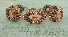 Linda's Crafty Inspirations: Duo Kheops Bracelet & Wave of Love Earrings - Copper & Rose