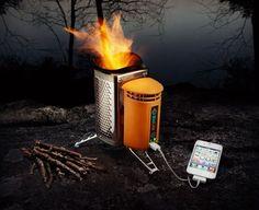 BioLite CampStove, phone charger