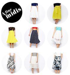 Summer Uniform: A-Line Midis
