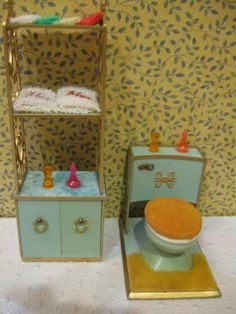Vintage Ideal Petite Princess Toilet and Cabinet