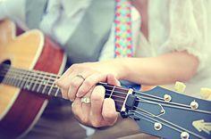 Guitar wedding photo