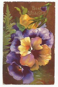 PURPLE PANSIES AND MORE....................Gratitude Treasury by Pat Peters on Etsy