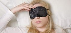 Young girl with sleeping mask with headache, cant sleep   Magical Breathing Technique to Help You Fall Asleep in 60 Seconds