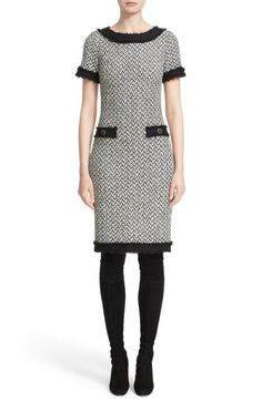 St. John Collection Tweed Knit Sheath Dress available at #Nordstrom