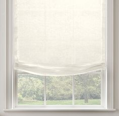 RH's Belgian Sheer Linen Relaxed Roman Shade:Highly functional and just a bit casual, our custom Relaxed Roman Shades ensure that the windows themselves are part of the view. Their smooth front is tailored to fall into a gentle curve at the bottom. In a variety of fabric options that are also available in our drapery collections, allowing you to combine coverings in the same room – or even on the same window – with perfect ease. May also be layered over our Solar or Bl...