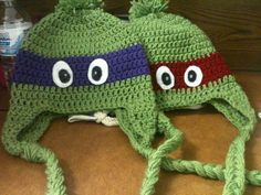 Ninja Turtle crochet hats =]