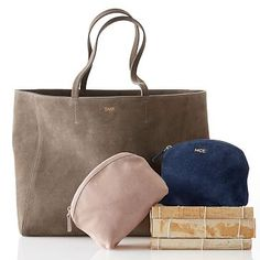 This would be fun to make in suede! Siena Suede Cosmetic Bag #makeyourmark
