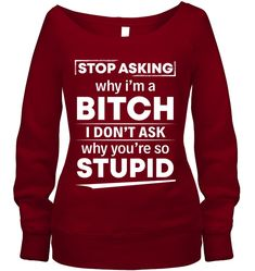 Stop Asking Me Why I Am A Beach Funny Shirts Funny Mugs Funny T Shirts For Woman and Men The post Stop Asking Me Why I Am A Beach Funny Shirts Funny Mugs Funny T Shirts For Woman and Men & Funny Bella Wide Neck Sweatshirt appeared first on Funny . Sarcastic Shirts, Funny Shirt Sayings, Shirts With Sayings, Funny Outfits, Cool Outfits, Cute Shirts, Funny Shirts, Funny Sweatshirts, Sweatshirt Outfit
