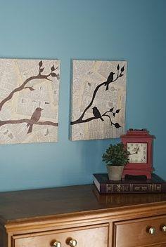 birds modge podge diy-list