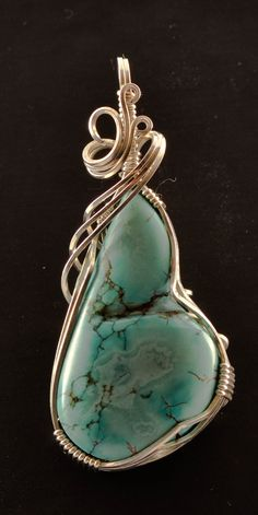 turquoise pendant by twistedwerx on Etsy, $65.00