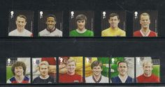 GB 2013 Football Heroes Complete SET OF 11 British Stamps Mint NH | eBay British Football, Stamps, Mint, Baseball Cards, Ebay, Seals, Uk Football, Postage Stamps, Stamp