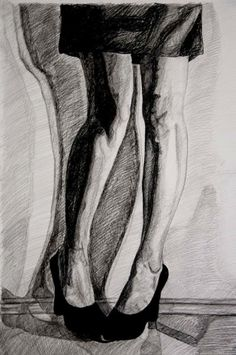 Andreea, 50x70, black pencil and charcoal on paper
