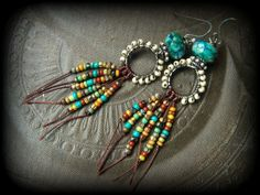 RESERVED FOR BARBARAColorful Wired and Fringe Glass by YuccaBloom
