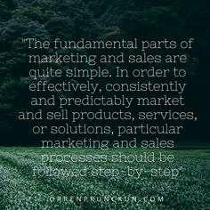 Find out more at: http://orrenprunckun.com/2016/05/22/the-marketing-sales-processes-how-market-and-sell-your-product-service-or-solution/  #marketing #sales
