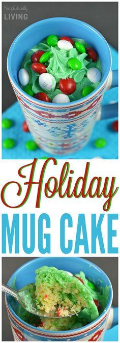 Holiday Mug Cake Simplistically Living