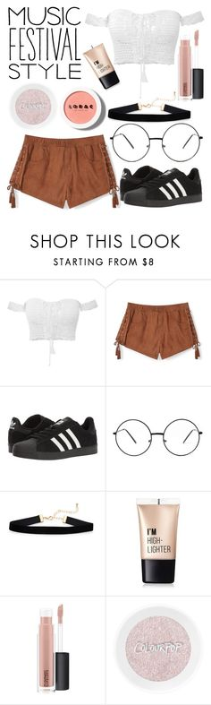 """""""Untitled #82"""" by christina123green on Polyvore featuring Rebecca Minkoff, adidas, Charlotte Russe, MAC Cosmetics and LORAC"""