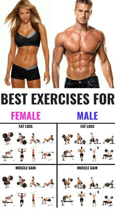 The 25 Best Exercises for Men and Women To Build Muscle - My lil wallThe best workout for women & men to look great and be healthy focuses on training for strength. You will get you lean, toned and look good all year round.Men and women aren't typica Fitness Man, Fitness Hacks, Muscle Fitness, Gain Muscle, Build Muscle, Health Fitness, Fitness Exercises, Mens Fitness Workouts, Muscle Men