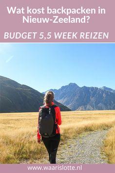 Nieuw-Zeeland is een fantastisch land met prachtige natuur. Helaas is Nieuw-Zeeland ook een duur land. Ik deel daarom mijn budget en uitgaven van mijn reis in Nieuw-Zeeland van 5,5 week. #backpacken #Nieuw-Zeeland #reizen New Zealand Travel, Travel Tips, Europe, Nature, Travel Advice, Nature Illustration, Off Grid, Mother Nature