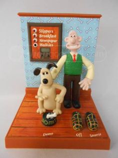 shopgoodwill.com: Wallace and Gromit Alarm Clock Vintage 1989
