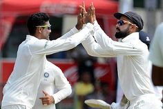 Resuming on 50/2, Sri Lanka were dented early when Dinesh Chandimal fell to Ravindra Jadeja.