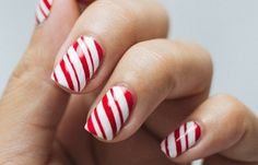Ultimate easy holiday nail art designs for all occasions Striped Nail Designs, Cute Nail Art Designs, Beautiful Nail Designs, Funky Nail Art, Nail Art Diy, Easy Nail Art, Christmas Nail Art Designs, Holiday Nail Art, Christmas Nails