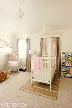 Baby Girl Nursery Ideas via MakelyHome.com