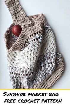 Sunshine Market Bag Free Crochet Pattern - Stitch & Hustle Sunshine Market Bag Free Pattern - Stitch & Hustle Cette image a obtenu Bag Crochet, Crochet Market Bag, Crochet Shell Stitch, Crochet Handbags, Crochet Purses, Diy Crochet Gifts, Crochet Hook Sizes, Crochet Hooks, Confection Au Crochet