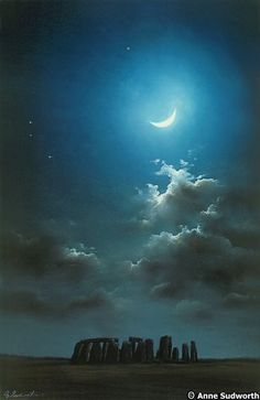 Stonehenge a la luz de la luna