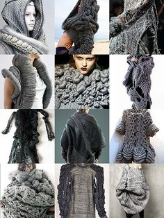 wearable art- gray