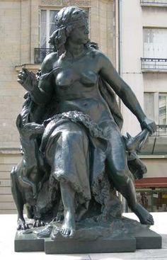 Mathurin Moreau : L'Océanie, Parvis du musée d'Orsay